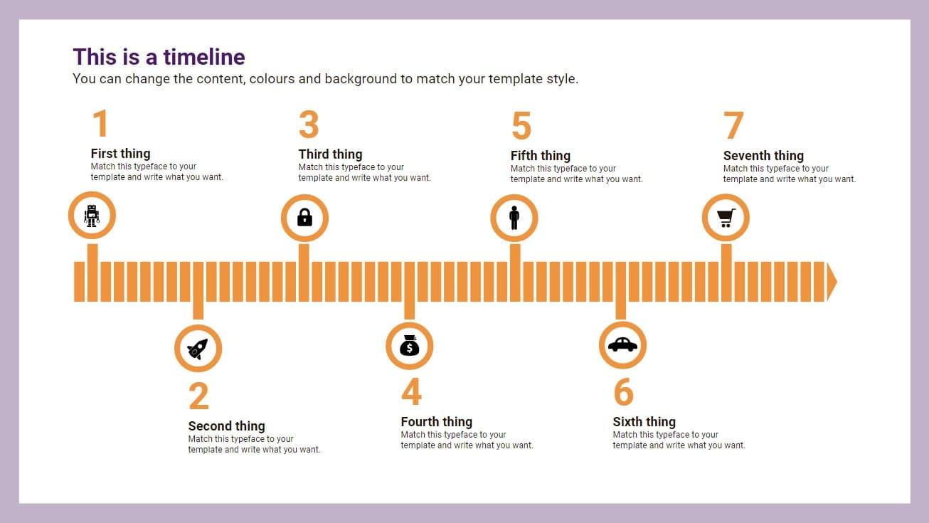 Arrow Timeline Infographic slidesforeducation