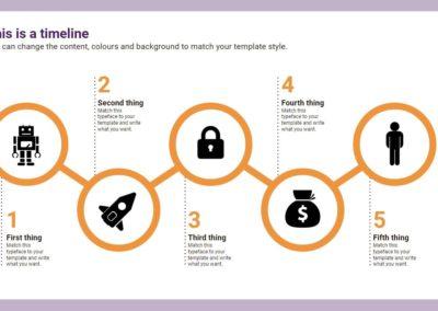 Circles Timeline. Infografía gratuita descargable