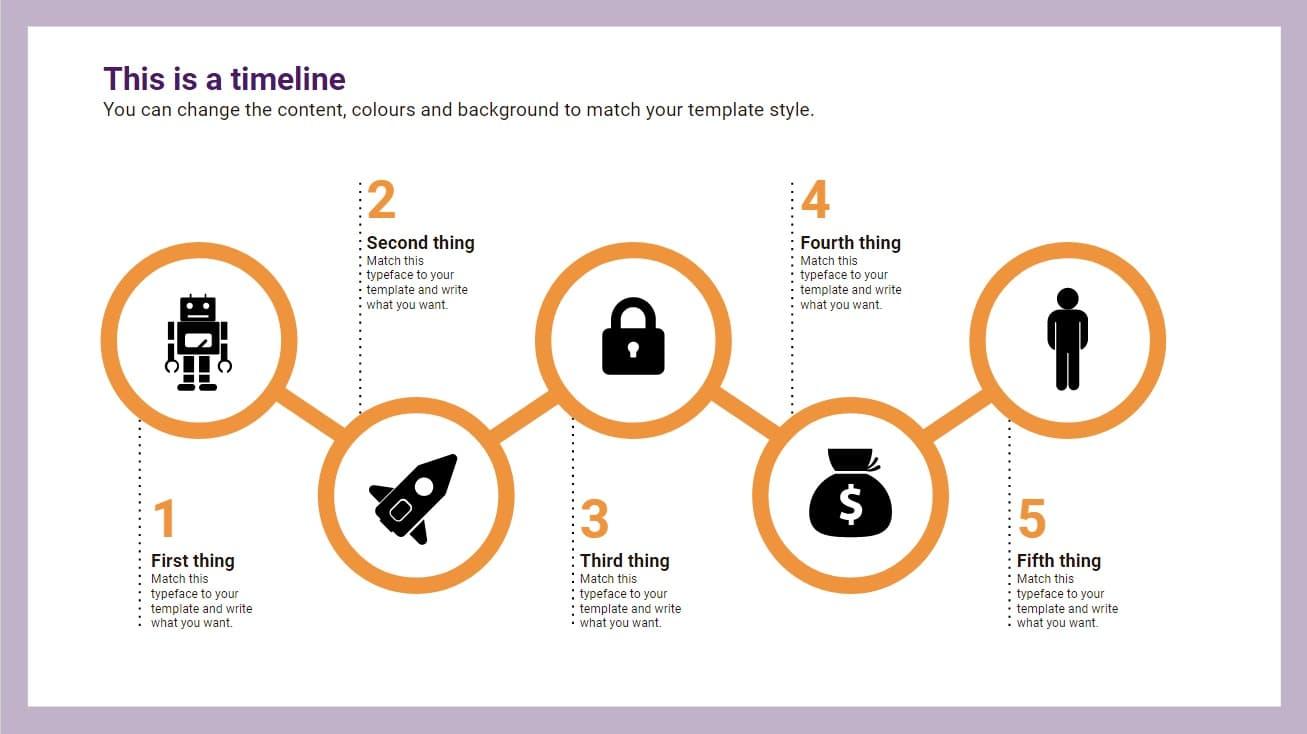 Circles Timeline Infographic slidesforeducation