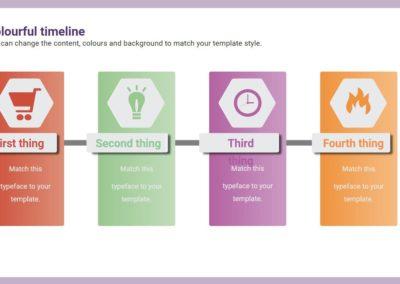 Colourful Timeline. Infografía gratuita descargable