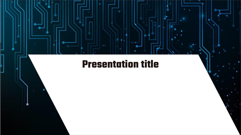 Electric Free Template slidesforeducation