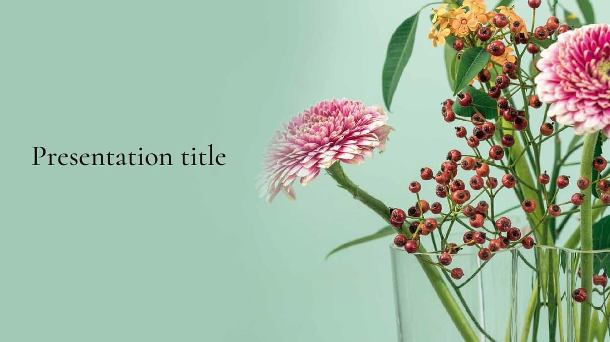 Flower Free Template slidesforeducation