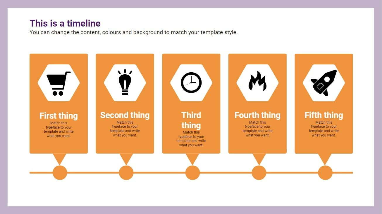 Points timeline Infographic slidesforeducation