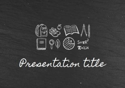 Blackboard. Plantilla Power point Gratis, tema Google Slides y Keynote