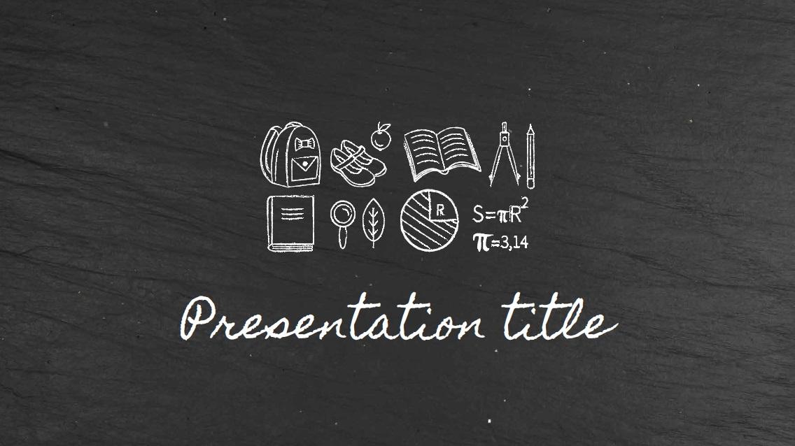 Backboard slidesforeducation template