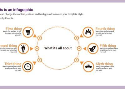 Circle. Infografía gratuita descargable