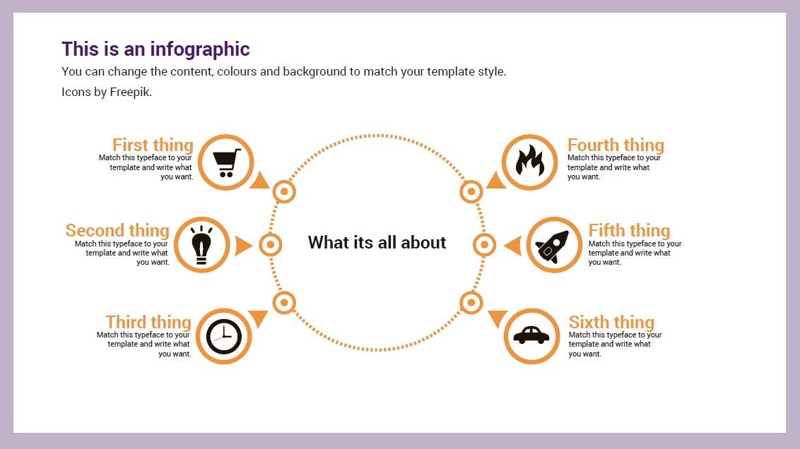 Circle infographic slidesforeducation