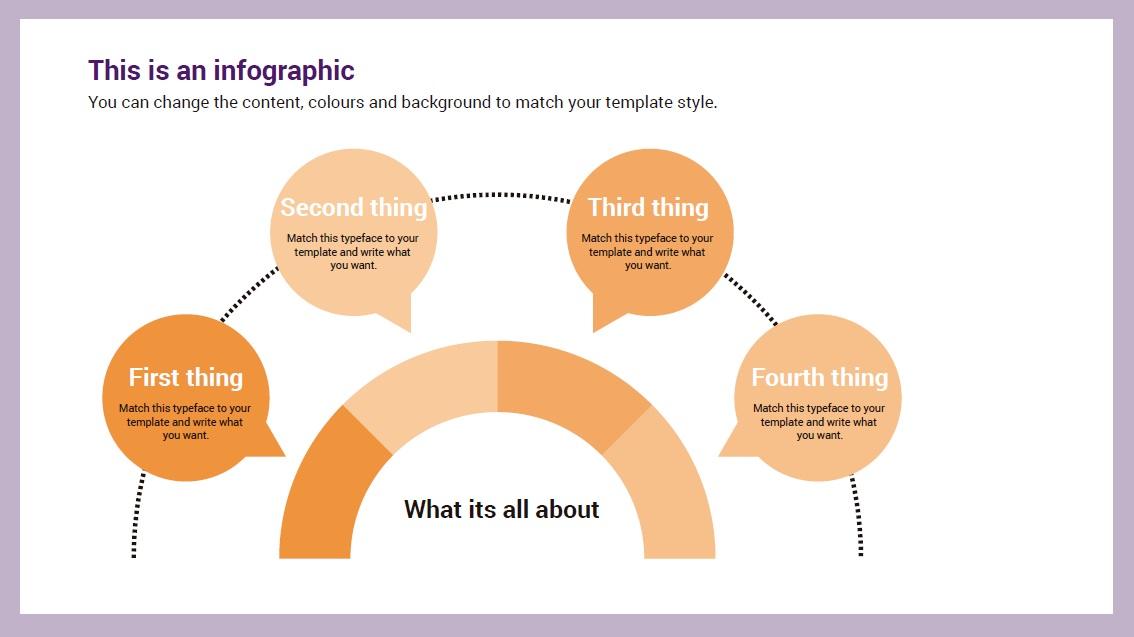 Semicircle Infographic slidesforeducation