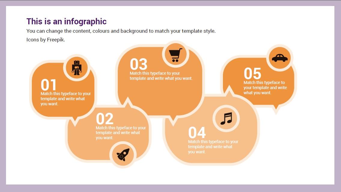 Speech bubble Infographic slidesforeducation