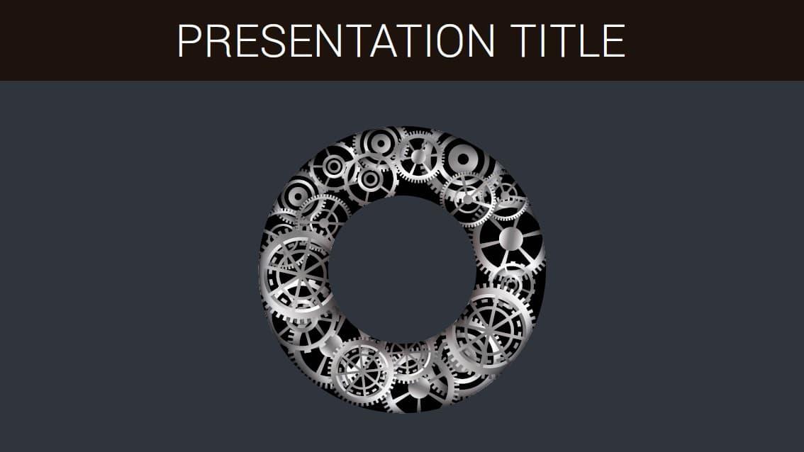 Gears slidesforeducation template