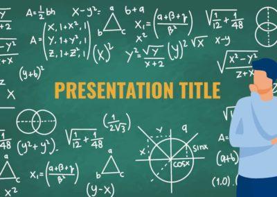 Mathematics. Free Power point template, Google Slides and Keynote theme