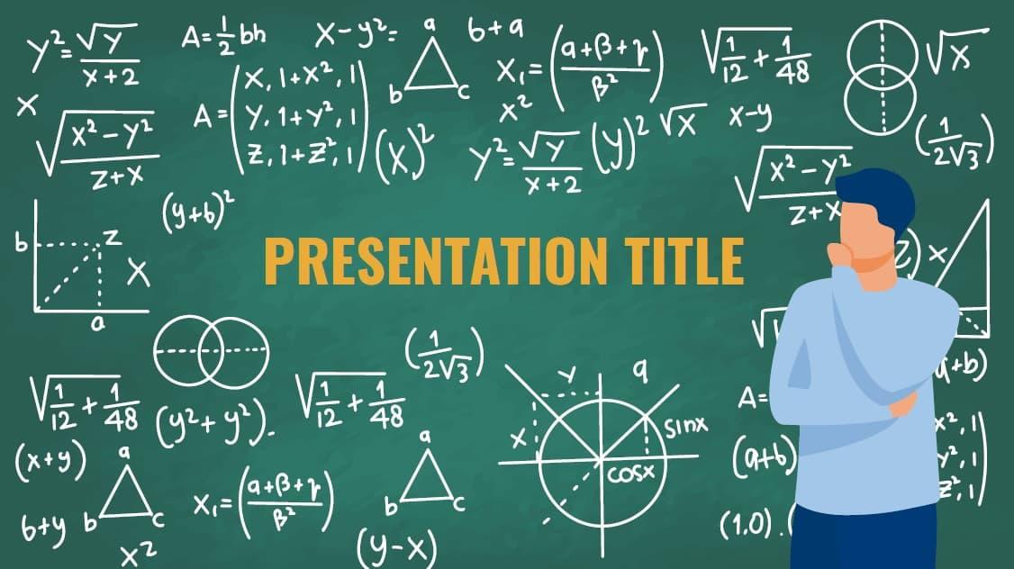 Mathematics slidesforeducation template