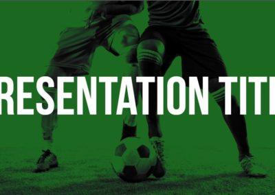 Fútbol. Plantilla Power point Gratis, tema Google Slides y Keynote