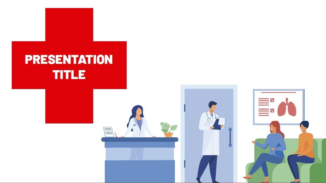 Hospital salud slidesforeducation template