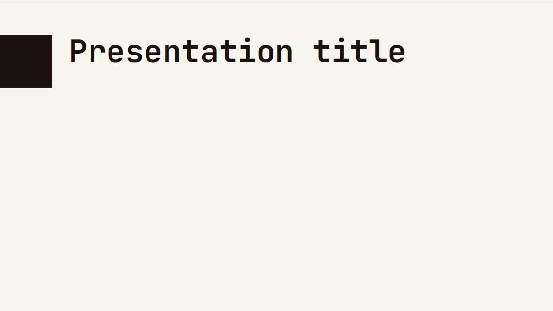 Minimalism slidesforeducation template