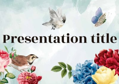 Watercolor. Free Power point template, Google Slides and Keynote theme