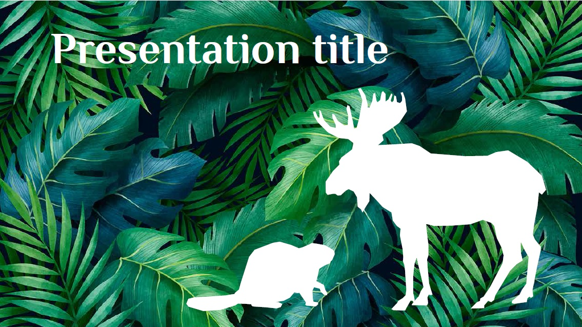 Animals slidesforeducation template