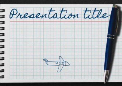 Notebook. Plantilla Power point Gratis, tema Google Slides y Keynote