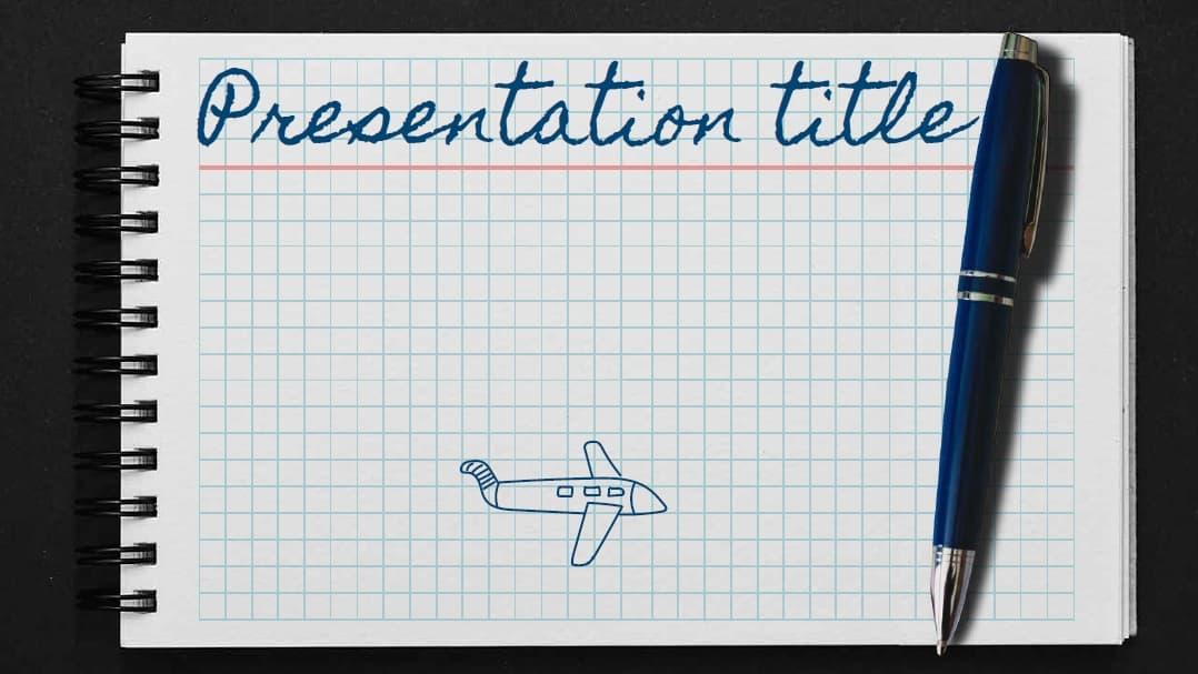 Notebook slidesforeducation template