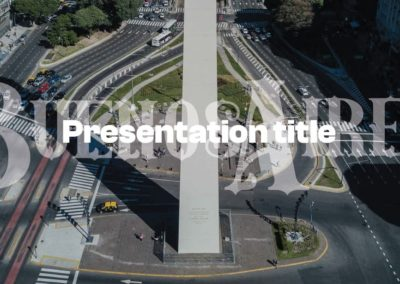 Buenos Aires. Free Power point template, Google Slides and Keynote theme