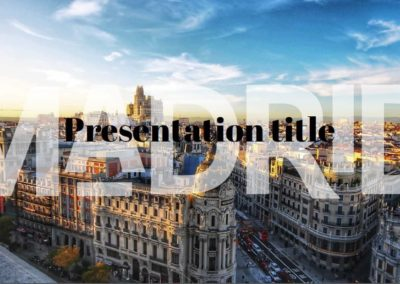 Madrid. Free Power point template, Google Slides and Keynote theme
