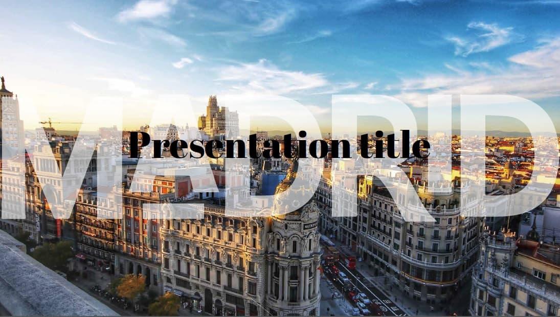 Madrid slidesforeducation template