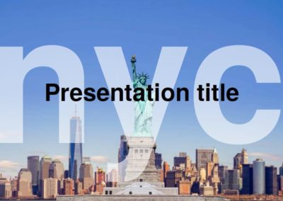 New York. Free Power point template, Google Slides and Keynote theme