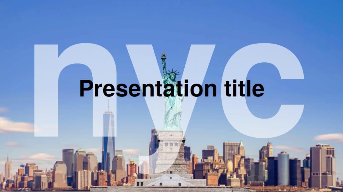 New York slidesforeducation template