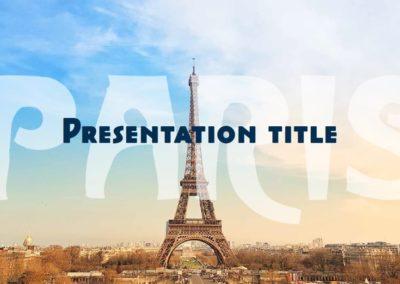 Paris. Free Power point template, Google Slides and Keynote theme