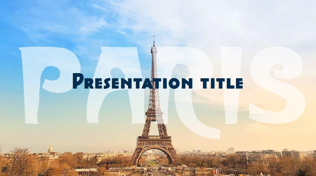 Paris slidesforeducation template