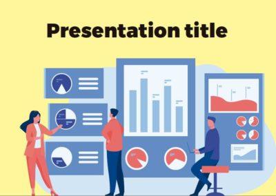 Statistics. Free Power point template, Google Slides and Keynote theme