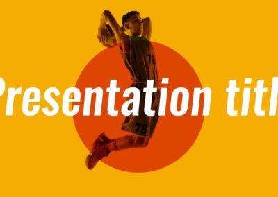 Basketball. Plantilla Power point Gratis, tema Google Slides y Keynote
