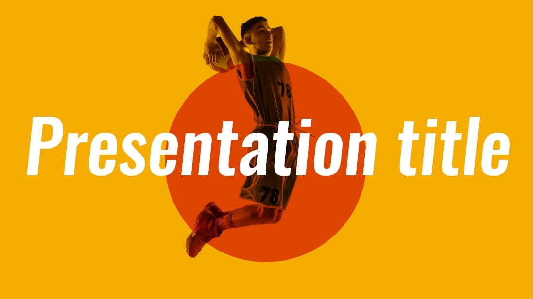 Basketball slidesforeducation template