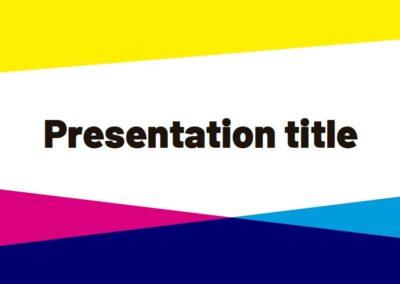 CMYK. Free Power point template, Google Slides and Keynote theme
