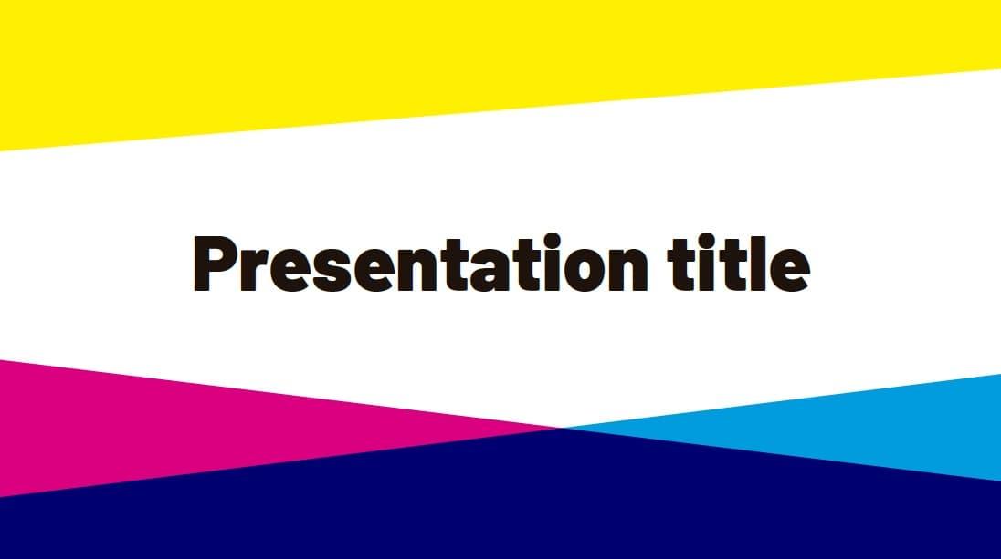 CMYK slidesforeducation template