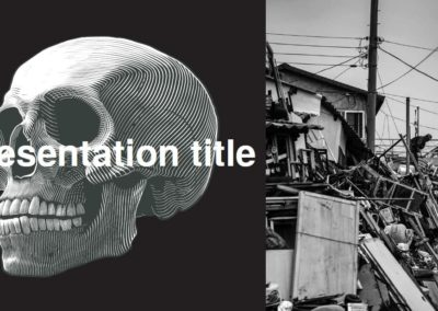 Destrucción. Free Power point template, Google Slides and Keynote theme