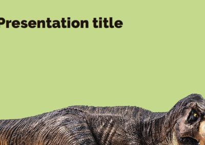 Dinosaurs. Free Power point template, Google Slides and Keynote theme