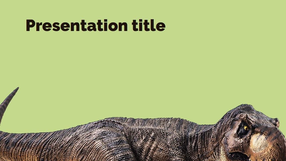 Dinosaur slidesforeducation template