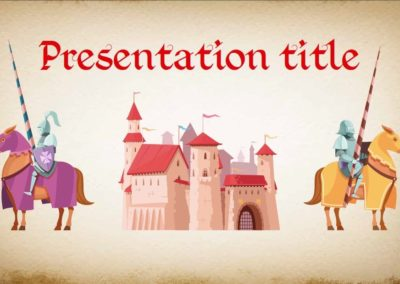 Get Medieval. Free Power point template, Google Slides and Keynote theme