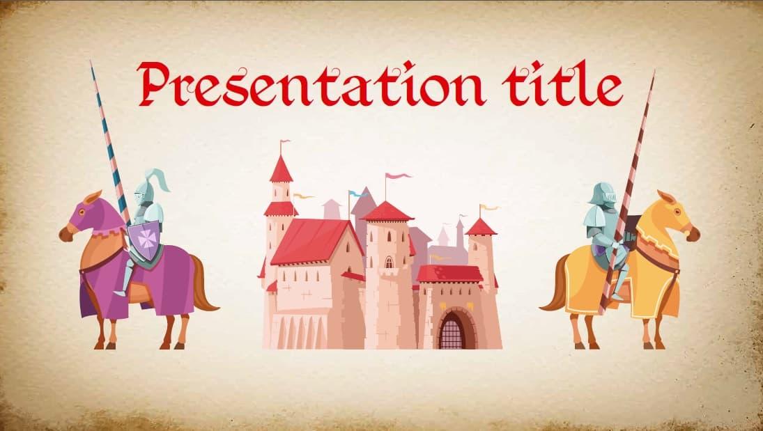 Get medieval slidesforeducation template