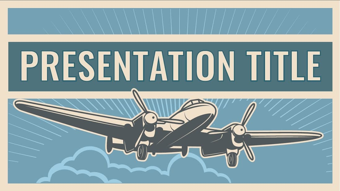 Flight slidesforeducation template