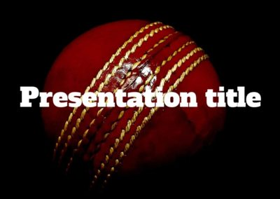 Cricket. Free Power point template, Google Slides and Keynote theme
