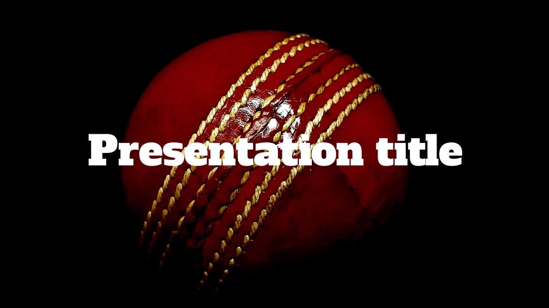 Cricket slidesforeducation template