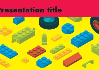 Construction blocks. Free Power Point Template, Google Slides and Keynote theme