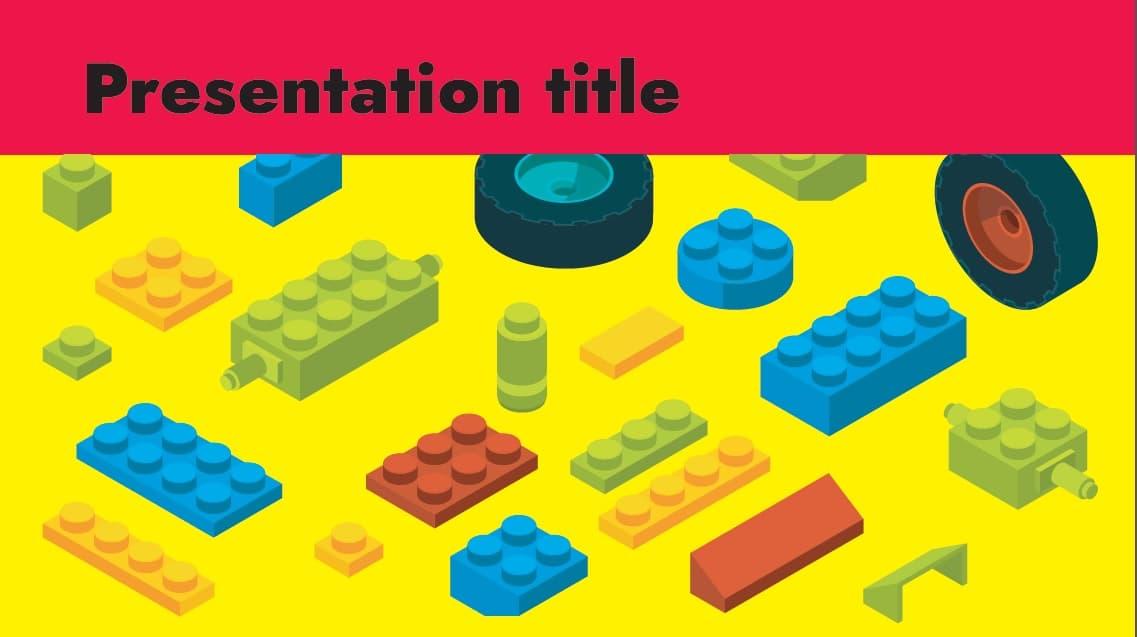 Construction blocks slidesforeducation template
