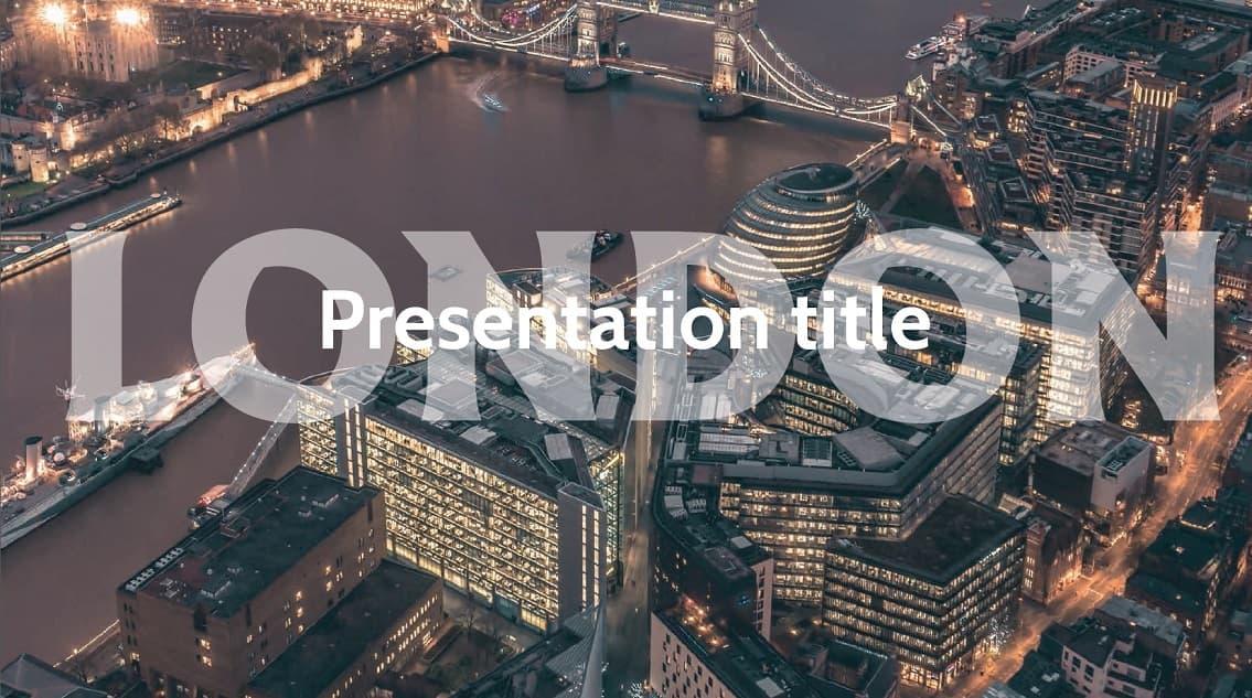 London slidesforeducation template