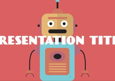 Robots. Free Power Point Template, Google Slides and Keynote theme