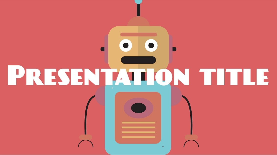 Robots slidesforeducation template